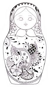 Matryoshka Coloriage Would Love To Do