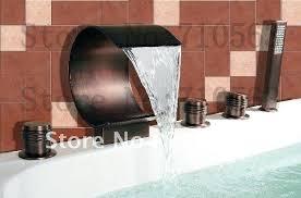 bronze waterfall bathroom faucet waterfall finish brass bathroom sink faucet oil rubbed bronze brass waterfall