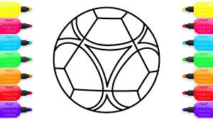 Small Picture Soccer Ball Coloring Pages and Simple Example of Drawing Art