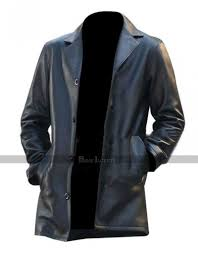 joshua jackson fringe peter bi black leather coat
