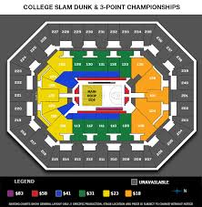 Ncaa Final Four Houston Seating Chart State Farm College Slam Dunk 3 Point Championships