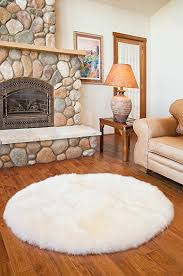 com overland 4 round premium australian sheepskin rug with regard to plan 1