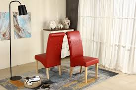 highback dining chairs. premium-dining-chairs-faux-leather-roll-top-scroll- highback dining chairs