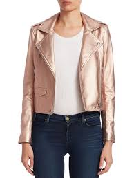 iro ashville leather moto jacket rose gold women s jackets vests faux iro tops