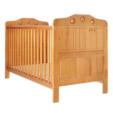 antique wood cot bed with