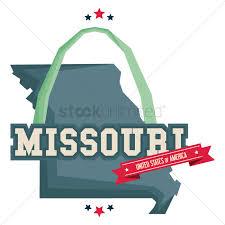Graphic Design Missouri Missouri Map With St Louis Gateway Arch Vector Image