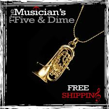 new 24k gold besson euphonium baritone necklace jewelry gifts