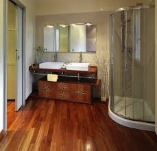laminate flooring for bathroom. 1 modern and luxurious bathroom with shower cubicle wood floor min - hardwood laminate flooring for