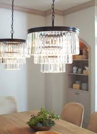 restoration hardware replica crystal fringe odeon chandelier ceiling light xl