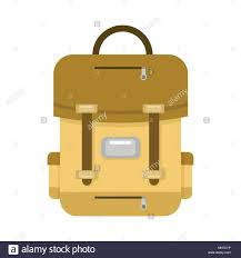 Backpack Graphic Design Brown School Backpack Vector Illustration Graphic Design