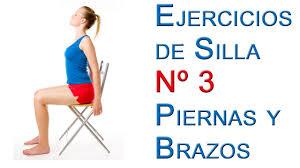 Ejercicios de Silla Basicos 3 Piernas y Brazos - YouTube