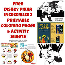 By best coloring pagesfebruary 28th 2017. Free Disney Pixar Incredibles 2 Printable Coloring Pages Activity Sheets Twin Cities Frugal Mom