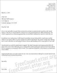 Account Executive Cover Letter Samples Assistant Account Executive Cover Letter Sample