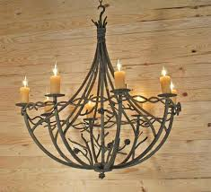 hand forged pine branch chandalier
