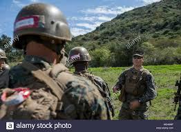 U.S. Marine Corps Sgt. Byron Watkins, a combat instructor with Golf  Company, Marine Combat Training Battalion (