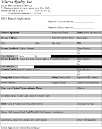 Blank Rental Application 8 Sample Blank Lease Templates Free Download