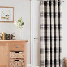 Balcony door curtains Curtains Decor Highland Check Charcoal Lined Eyelet Door Curtain Saiincocoroinfo Door Curtains Thermal Blackout Door Curtains Dunelm