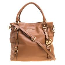 michael michael kors brown leather buckle strap top handle bag nextprev prevnext