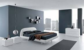 Modern Bedroom Ideas For Men For Manly Look Grey Wall Color With White  Ceramic Floor For Simple Teenage Room Ideas