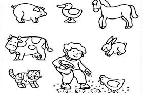 Coloring Page Farm Animals Pages Free Printable Pictures Related