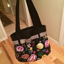 Glitter Designs Tulsa Ok Glitter Peace Signs And Stars Bag Purse Gives Off Depop
