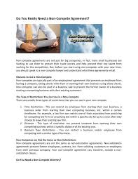 Non Compete Agreement Texas Image Collections - Agreement Letter ...