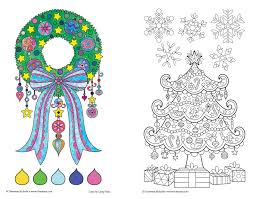 Color Christmas Coloring Book Perfectly Portable