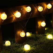 Cmyk Solar Operated 30 LED String Light with Crystal Ball Covers, Ambiance  Lighting,