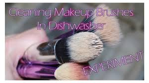 cleaning makeup brushes in dishwasher experiment