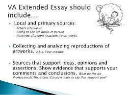 visual arts extended essay 7  explores art