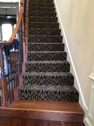 Patterned Stair Carpet New Decorating On A Shoe String Installs Patterned Carpet On Stairways