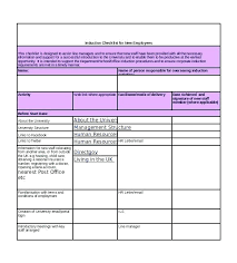New Hire It Checklist New Hire Paperwork Template New Employee Checklist Template Free