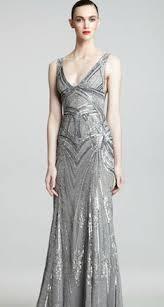 monique lllier art deco evening gown great as a wedding dress