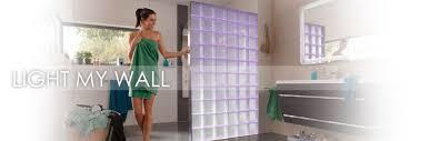 light my wall illuminated glass block walls light my wall glasbaustein bad