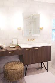 brown and gold bathroom design