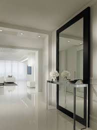 hall entry furniture. contemporary hallway design ideas with stainless console table also huge modern mirror black frame hall entry furniture o