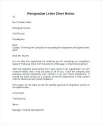Professional Resignation Letter Templates Impressive Resignation Letter Sample Template Resignation Letter Samples Short
