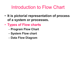 Pictorial Flow Chart 12 Introduction To Flow Chart