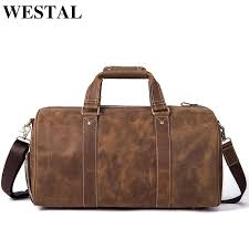 westal crazy horse leather duffle bags vintage weekend bag carry on luggage men computer laptop handbag men travel bag leather overnight bags briefcases for