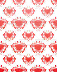 Red Heart Patterns Gorgeous Red Heart Pattern By Alitsuarnegara GraphicRiver
