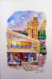 aquarelas de mauritano: Salvador nas aquarelas
