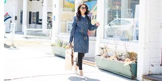 jc penny trench coat denim trench lace top distressed jeans basket tote white pumps petite spring ootd nehagandhi streetstyle loveplayingdressup 11