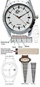 Watch Size Chart Kolet 24mm Sports Rubber Watch Strap Black 24mm Size