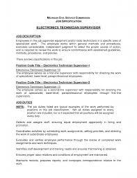Electronics Technician Resume Bestresume Com
