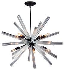 murano venini triedi crystal chandelier oil rubbed bronze finish