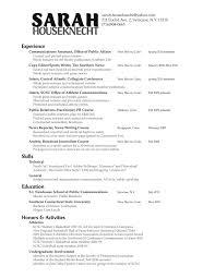 Pr Resume Example Public Relations Resume Templates Free