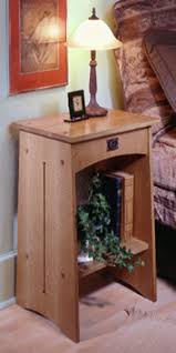 Arts and Craft Bedside Table Florida Custom Furniture Makers