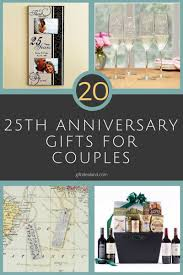 20 best 25th wedding anniversary gifts for couples husband wife him her