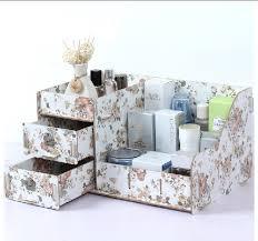 desktop storage box new 2016 makeup organizer bo diy creative drawer wooden cosmetics jewerly container novelty