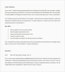 High School Student Resumes Adorable Resume Template High School Senior High School Student Resume